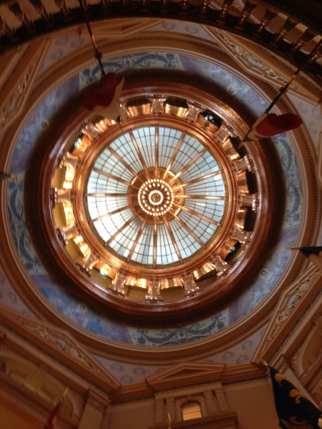 The dome can be seen from every floor of the Statehouse.