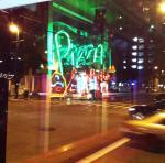 neon pizza in window MGD©
