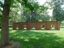Public art on the Truman State University quad. I don't have a better picture of the campus.