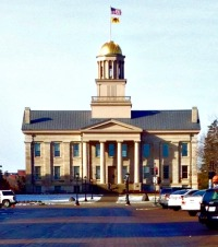 The Old Capitol on the University of Iowa campus. Taken from Iowa Street.