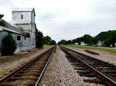 Lenexa Kansas grain elevator and train tracks