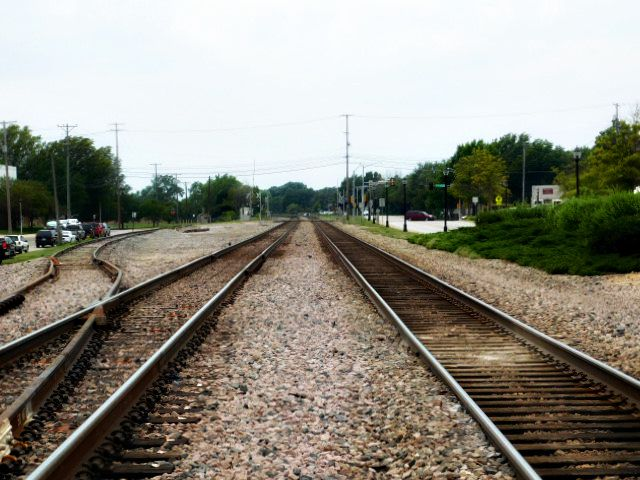 Downtown Lenexa Kansas Train Tracks