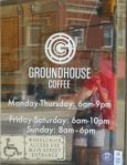 Groundhouse logo in window