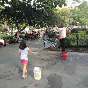 Bubble-maker in Washington Square