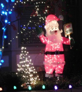 Santa light display