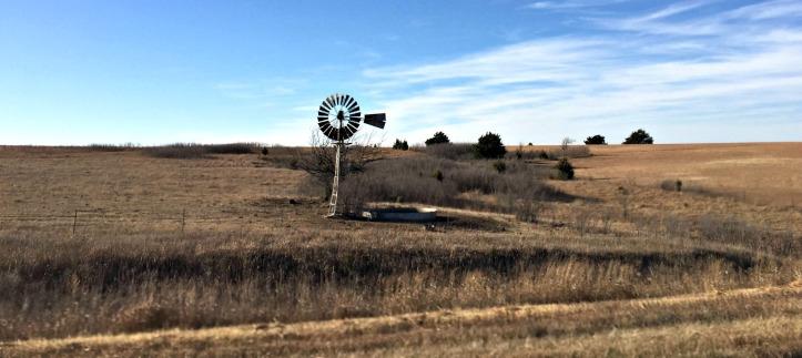 Prairie and windmill