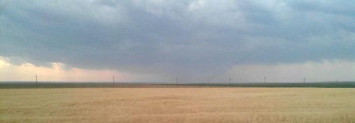 Western prairie and rain