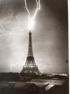 Eiffel Tower in a Thunderstorm