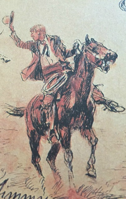 Detail from a Charles A. Russell sketch