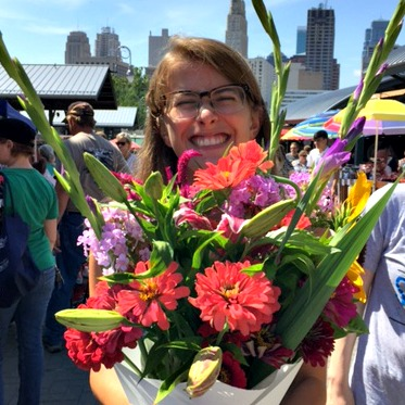 Em and flowers
