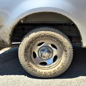 muddy truck wheel
