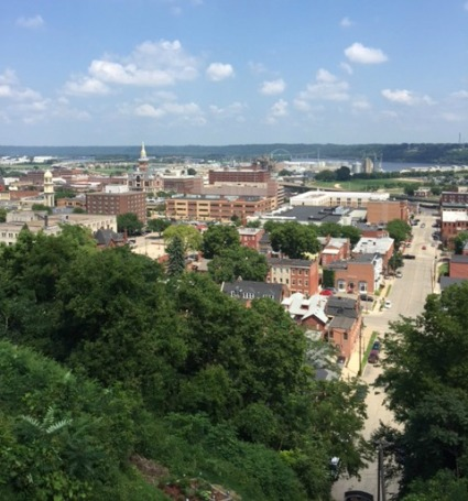 Dubuque from the top of the Fenelon Place Elevator 2016