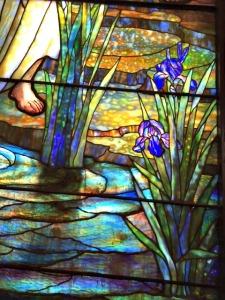 Detail of Tiffany window at St. Luke's Church Dubuque, Iowa