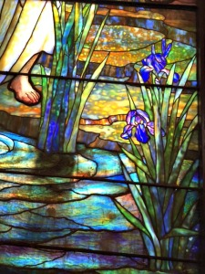 Detail of Tiffany window at St. Luke's Church Dubuque, Iowa