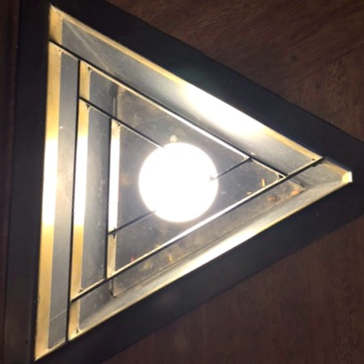 Price Tower Triangle Light Fixture